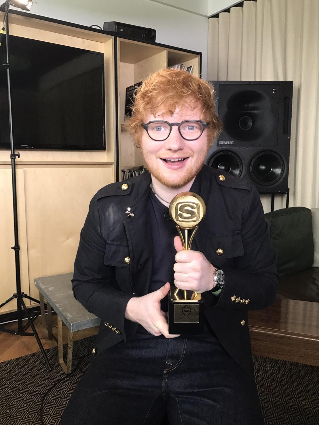 ED-SHEERAN - SPACE SHOWER MUSIC AWARDS 2018