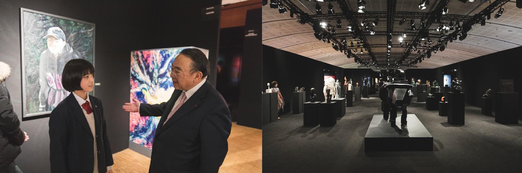 (左より)宍戸琴美、駐フランス特命全権大使 木寺昌人