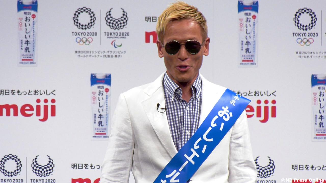 じゅんいちダビッドソン - 『明治おいしい牛乳』東京2020オフィシャル牛乳 発表イベント