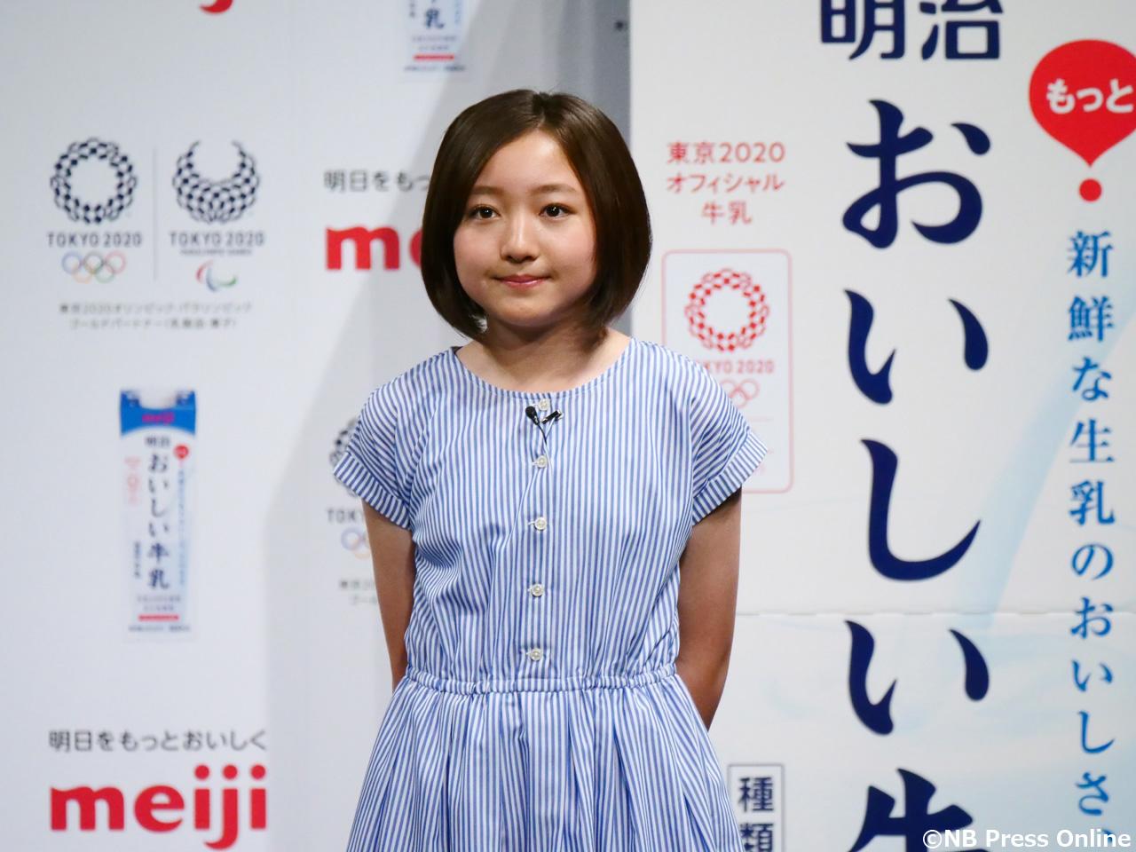 谷花音 - 『明治おいしい牛乳』東京2020オフィシャル牛乳 発表イベント