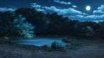 京都_親鸞聖人の館_庭の池(月夜)-s.jpg